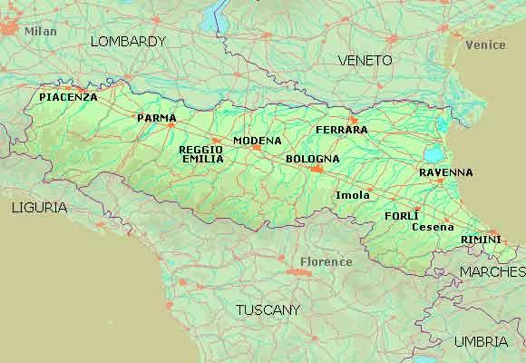 Vinregionen Emilia Romagna